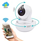 Wireless GERI IP Security Camera WIFI Surveillance indoor camera baby room vision Pan/Tilt/Zoom System 720p HD Night Vision Cloud Service Available