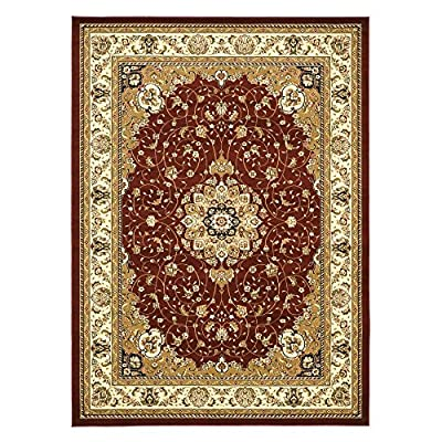 Safavieh LNH329A Lyndhurst Collection Black and Ivory Area Runner