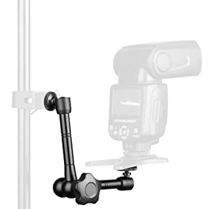 Wanby 11 Inch Articulating Friction Magic Arm Adjustable w/Hot Shoe Mount 1/4'' Tripod Screw for DSLR Camera Rig/LCD/DV Monitor/LED Lights/Flash Light/Microphone/DJI Osmo (11 INCH) (Color: 11 INCH)