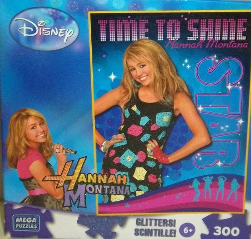 "Hannah Montana ""Time to Shine"" 300 Piece Glitter Puzzle (2009) - 1"