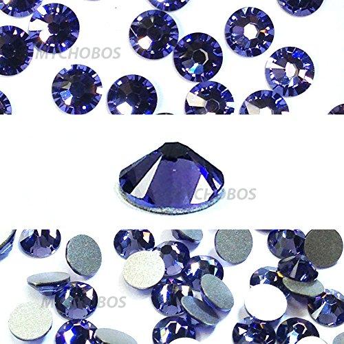 TANZANITE (539) purple violet Swarovski NEW 2088 XIRIUS Rose 34ss 7mm flatback No-Hotfix rhinestones ss34 18 pcs (1/8 gross) *FREE Shipping from Mychobos (Crystal-Wholesale)*