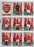 Match Attax - Juego de 18 cromos del Arsenal 2015 2016 (equipo completo y escudo)