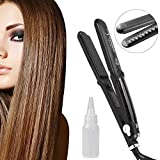 Steam Hair Straightener, GOXMGO Flat Iron Argan Steam Styler Hair Straightener Ionic Ceramic Heating with STEAM Technology & Temperature Control