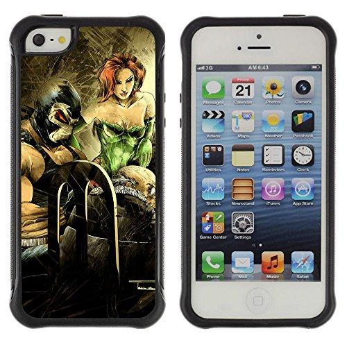 """ZAKO Cases / Apple Iphone 5 / 5S / """"Poison Ivy / Robusto Antiurto Custodia Portafoglio Snello caso copertura Shell armatura Case Cover Slim Armor"""