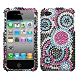 Apple iPhone 4 GSM iPhone 4 GSM Bubble Diamond Cell Phone Snap-on Cover Fac ....