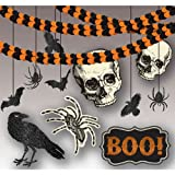 Amscan New Age Scare Halloween Party Spooky Creatures Room Decorating Kit (21 Piece), Multicolor, One Size