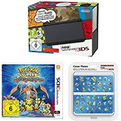 New Nintendo 3DS schwarz + Pokémon Super Mystery Dungeon + Zierblende 030 Pokémon Super Mystery Dungeon