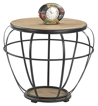 Convenience Concepts 227585 Wyoming Wire and Wood Large End Table