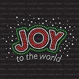 Joy to the World Iron On Rhinestone Crystal T-shirt Transfer