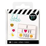 Heidi Swapp Light Box Icons Emoji Inserts by American Crafts | 20 unique emojis in various colors