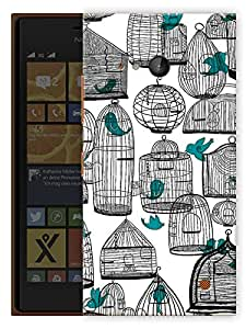 """Humor Gang Cages And Birds Cute Printed Designer Mobile Back Cover For """"Nokia Lumia 730"""" (3D, Matte, Premium Quality Snap On Case)"""