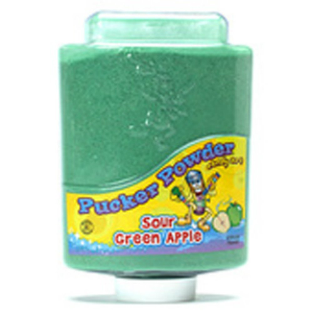 Pucker Powder Logo Green Apple Pucker Powder