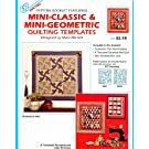 Drunkard's Path, A Thousand Pyramids and Attic Windows~Mini-Classic and Mini-Geometric Quilting Templates~EZ Quilting (#9322)