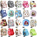 Reusable Real Cloth Pocket Nappy Cover Wrap - 116 - Minky Popper Safari by Dudeybaba