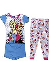 Disney Frozen Toddler Girls' Elsa & Anna 3-piece Pajama Set