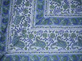 Rajasthan Block Print Paisley Tapestry-Bedspread-Nice
