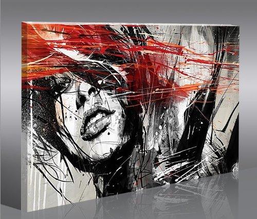 Street Art 1P Quadro moderno intelaiato - pronto da appendere - Fotografia formato XXL - Stampa su tela - Quadro x poltrone salotto cucina bagno mobili ufficio casa