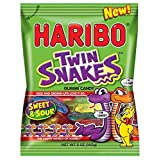 Haribo Gummi Candy, Twin Snakes Sweet & Sour, 5 oz. Bag (Pack of 12) (Tamaño: Pack of 12)