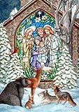 Toland Home Garden Winter Nativity Garden Flag 112517