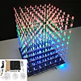 DIY WIFI APP 8x8x8 3D Light Cube Kit Red Blue Green LED MP3 Music Spectrum Electronic Kit No Housing - Arduino Compatible Kits & DIY Kits