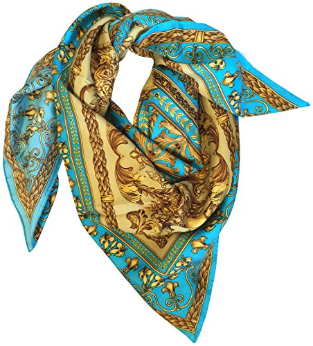 saks-fifth-avenue-black-silk-square-scarf-35-french-blue-gold