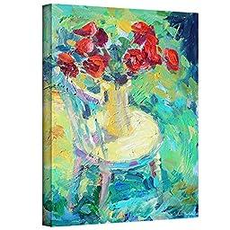 ArtWall Svetlana Novikova\'s Sunny Roses Gallery-Wrapped Canvas Wall Art, 24 by 32-Inch