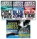 Andrew Gross Andrew Gross Collection 5 Books Set NEW (Reckless, Killing Hour,The Blue Zone, The Dark Tide, Don't Look Twice))