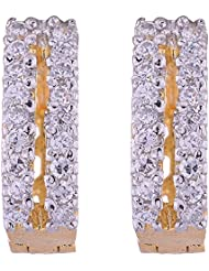 Vama Collections One Gram Gold Plated Cubic Zirconia Bali Earrings For Women (E267)
