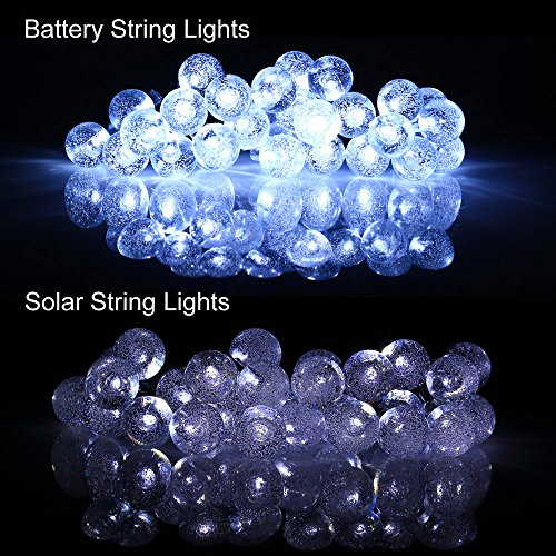 [Battery Included]Rechargeable Battery Operated String Lights with Timer, easyDecor 8 Modes 30 ...