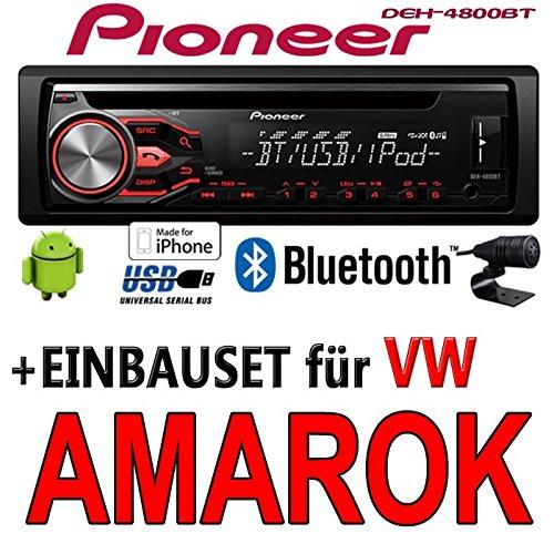Pioneer dEH-volkswagen amarok - 4800BT-cD/mP3/uSB avec kit de montage