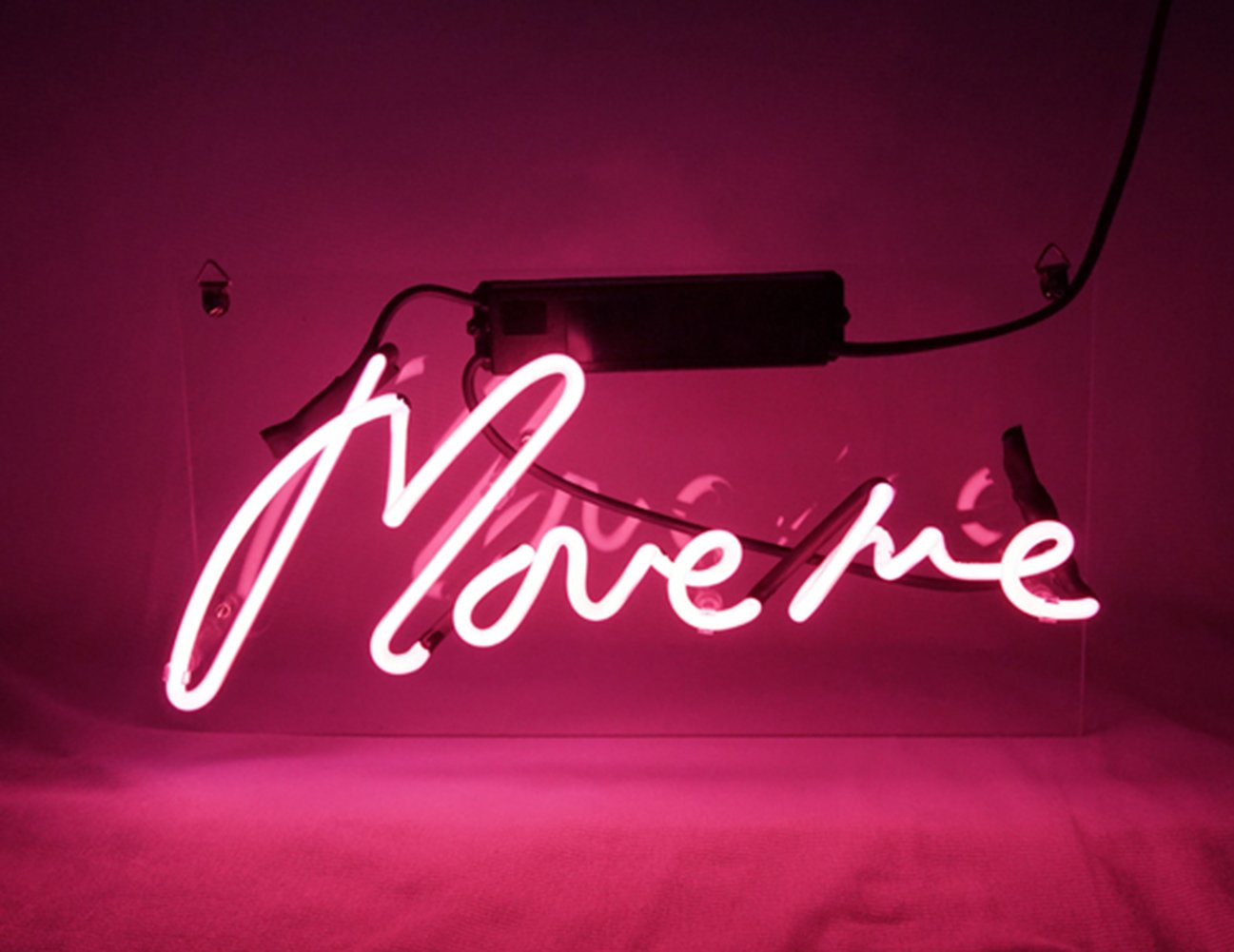 New Neon Sign Pink 'Move Me' Cool Led Lamp Light Decoration 12.6
