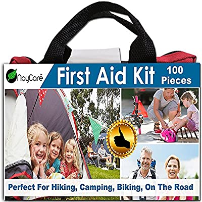 Tactical First Aid Kit: First Aid Kit By noyCare-100pcs of Professional Supplies for Easy Care of Trauma-with Small, Cute Bag for Backpack-perfect for Boy Scout, Girl Scout, Car, Baby, Family, Sports, On The Road from Noycare