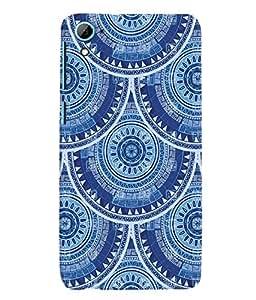 Fuson 3D Printed Pattern Designer Back Case Cover for HTC Desire 826 - D986