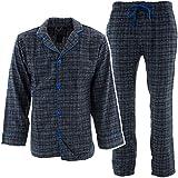Bottoms Out Men's Navy White Plaid Flannel Pajama Set
