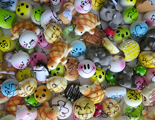 Variety of 5 Squishy Charms - 1