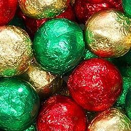 Christmas Foiled Milk Chocolate Balls 1LB Bag