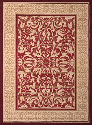 United Weavers of America Dallas Baroness Rug, 8 x 10', Red (United Weaver Rugs compare prices)