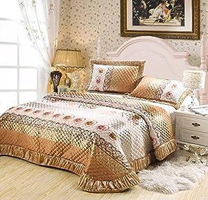 lt queen king size 3 pieces brown gold pink gray bedding comforter sets bedspreads. Black Bedroom Furniture Sets. Home Design Ideas
