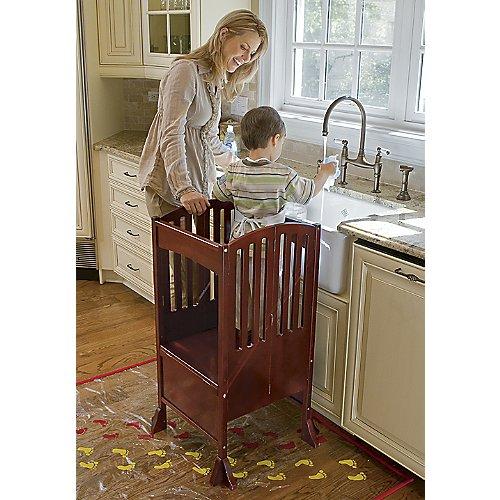 One Step Ahead Kids Kitchen Helper Safety Tower Step Stool Cherry ...