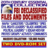 img - for 20th Century Essential Collection of FBI Declassified Files and Documents: Mafia, Celebrities, Spies, Civil Rights Leaders, J. Edgar Hoover, Protest Groups, Communists (Two DVD-ROM Set) book / textbook / text book