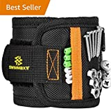 Swimmaxt Magnetic Wristband with Strong Magnets for Holding Screws, Nails, Drill Bits (Pro-black)