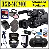 Sony HXR-MC2000U HXRMC2000 Shoulder Mount AVCHD Camcorder Advanced Package Includes 0.45x Wide Angle Lens + 2X Telephoto Lens + 32GB SDHC Memory Card + 4 Year Extended Warranty + More!!!!