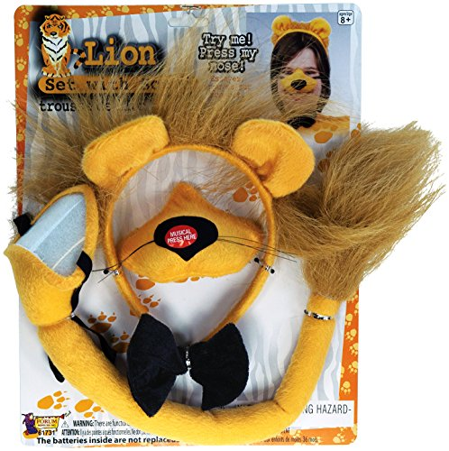 Forum Novelties Animal Costume Set Lion Nose Tail with Sound Effects
