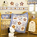 Bedtime Originals Champ Snoopy 4 Piece Baby Crib Bedding Set Blue