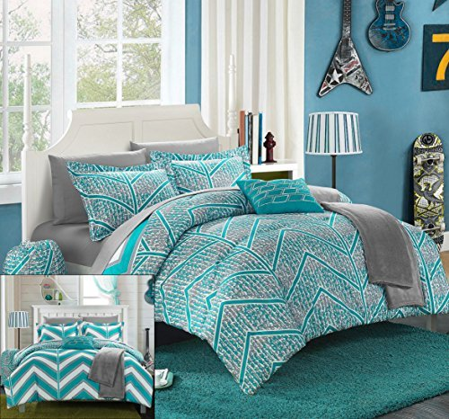 Chic Home 8 Piece Laredo Chevron