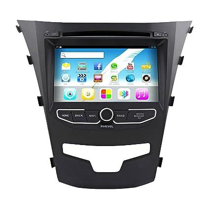 "Rungrace Autoradio Navigation Android 7"" 2 Din Ecran Tactile TFT Pour Ssangyong Korando avec Bluetooth, GPS, RDS, iPod, WIFI (RL-920AGNR"