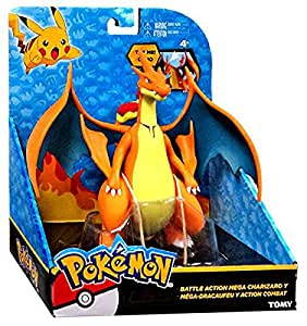"Tomy Pokemon Battle Action Mega Charizard Y 6"" Large Figure"