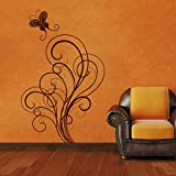 Decal Style ButterFly Swirls Wall Sticker Large Size-25*40 Inch - B00WSNOW74