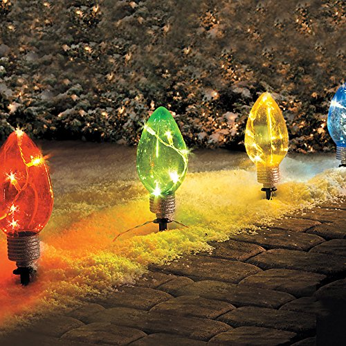LED Lighted Christmas Bulb Pathway Markers - Improvements - kjshfkdhgkj