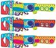 MAPED R�gle plate Kidy Grip, 200 mm, en plastique couleur al�atoire